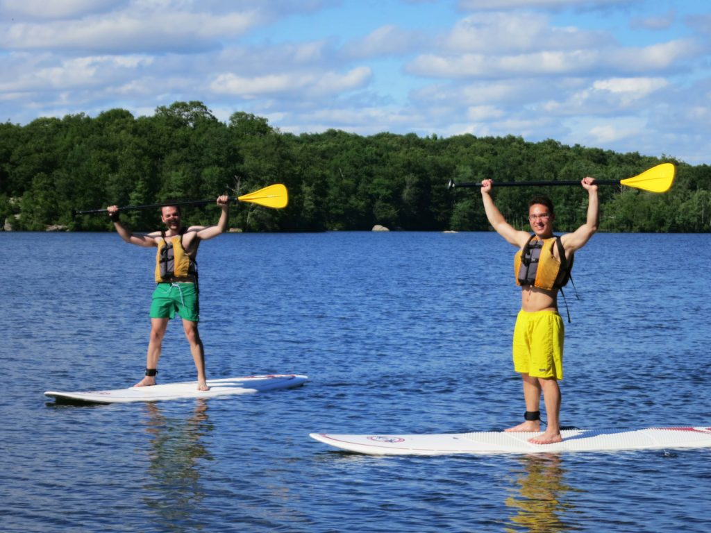 Paddle boarding at lincoln woods