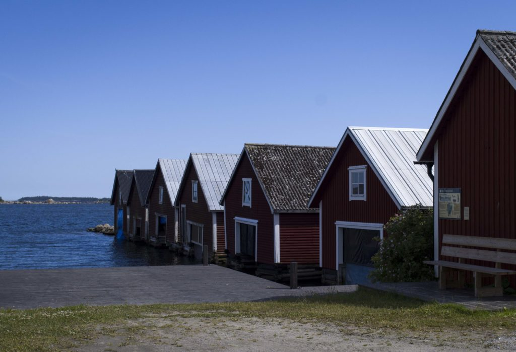 Boathouses in Trollharen
